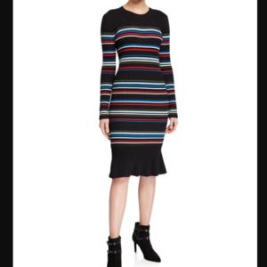 Parker Bruna Ribbed Knit Striped Dress